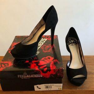 Fergalicious Radical black platform heel